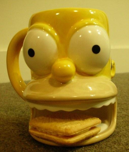 辛普森杯子嘴巴可放餅乾$1