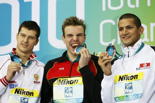 400m freestyle gold, Dubai 2010 Short Course Worlds