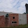 運動公園旁的現代雕塑