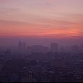 由大億麗緻房內看到的日出與朝霞