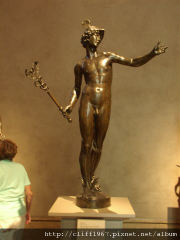 蓋帝中心--青銅雕塑--眾神信使麥丘利
