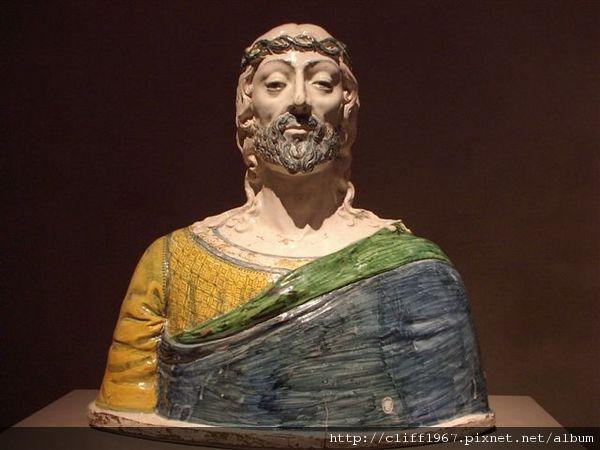 蓋帝中心--陶藝雕塑(義大利)耶穌頭像