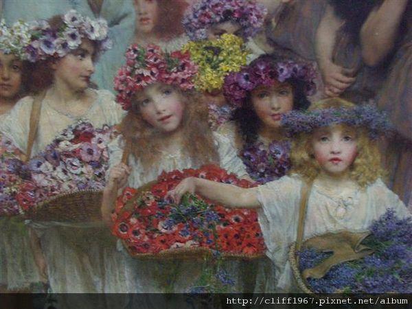 英國拉飛爾前派的畫作--春