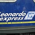 羅馬機場旁的義大利國鐵列車往羅馬市區的李奧納多特快車