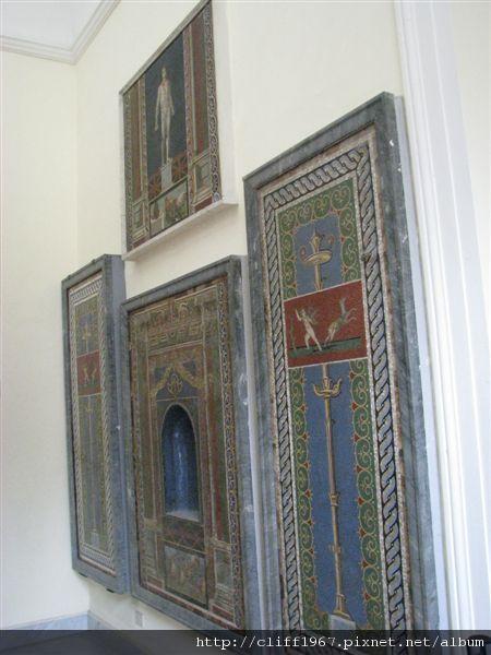 精美的馬賽克壁龕