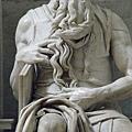聖彼得鐵鍊教堂中米開朗基羅雕的摩西像