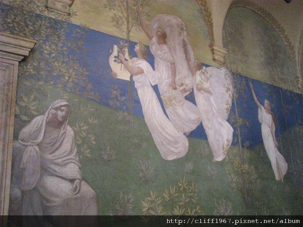 波士頓圖書館二樓壁畫(繆思女神)