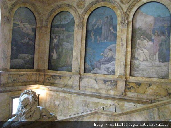 波士頓圖書館二樓壁畫