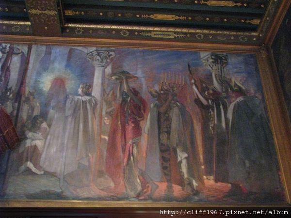 波士頓圖書館二樓壁畫(聖杯傳說)