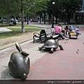 卡布利copley廣場的龜兔賽跑