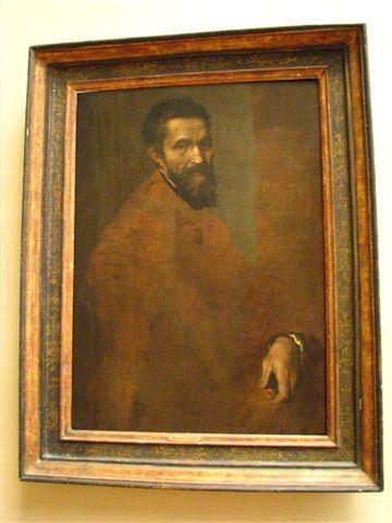 JACOPINO幫米開朗基羅繪製的肖像,不過未完成