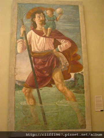 Domenico Ghirlandaio--Saint Christopher and the Infant Christ