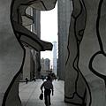 杜伯菲雕塑--四棵樹