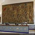 塞哥維亞城堡ALCÁZAR購票處的牆上掛毯