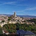 塞哥維亞城堡ALCÁZAR遠眺舊市區