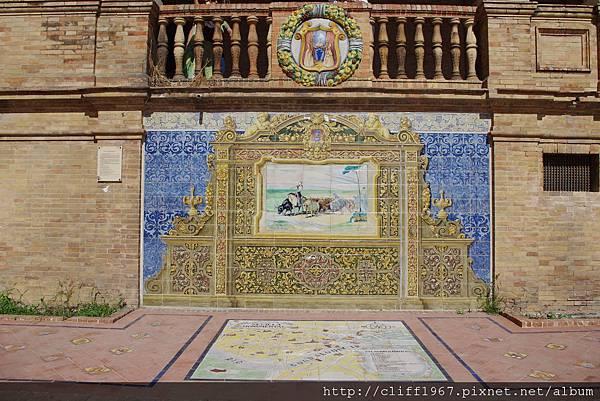 西班牙廣場上塞維亞磁磚畫