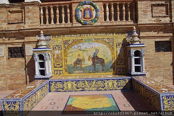 西班牙廣場--Ciudad Real磁磚畫