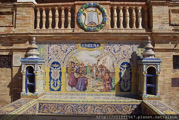 西班牙廣場--Coruna磁磚畫