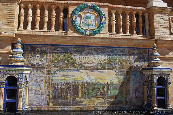 西班牙廣場--Huelva磁磚畫