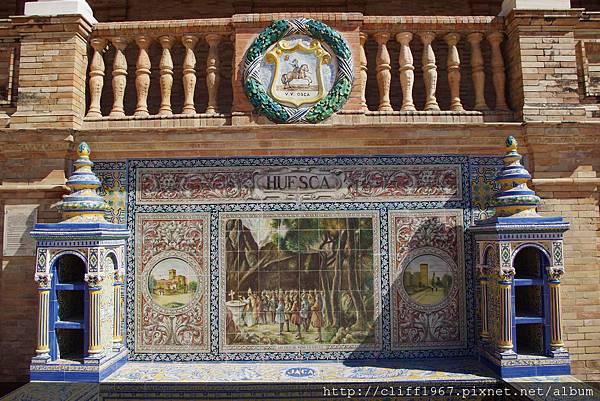 西班牙廣場--Huesca磁磚畫