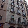 刮花泥飾的房屋,巴塞隆納街頭到處可見