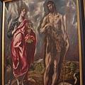 EL GRECO畫作--福音聖約翰與施洗者約翰