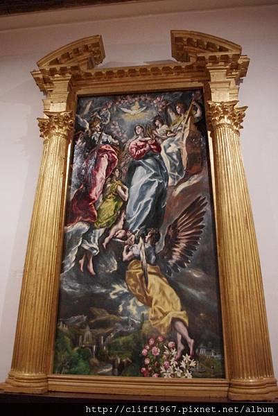 EL GRECO畫作--聖母升天