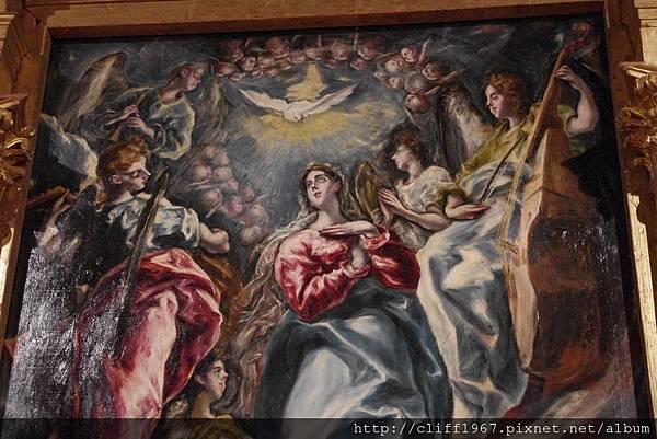 EL GRECO畫作La Inmaculada聖母升天