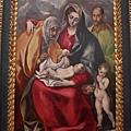 EL GRECO畫作--聖家族