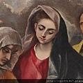 EL GRECO畫作--聖家族(聖母細部圖)