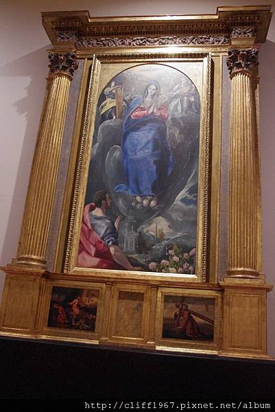 EL GRECO畫作--聖母顯聖