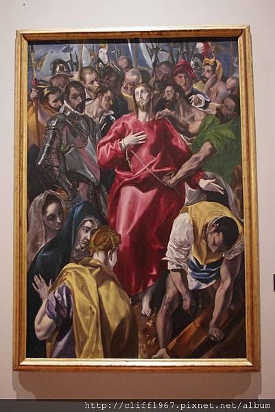 EL GRECO畫作--脫去耶穌外衣