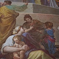 大主教教堂迴廊側的濕壁畫