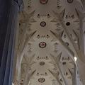 聖家堂內部的側殿拱頂