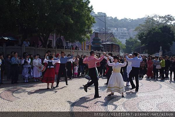 媽閣廟前地葡式傳統舞蹈
