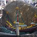 媽閣廟內帆船石刻