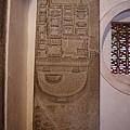 明倫堂內的孔廟平面圖