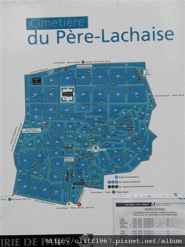 拉謝斯神父墓園地圖