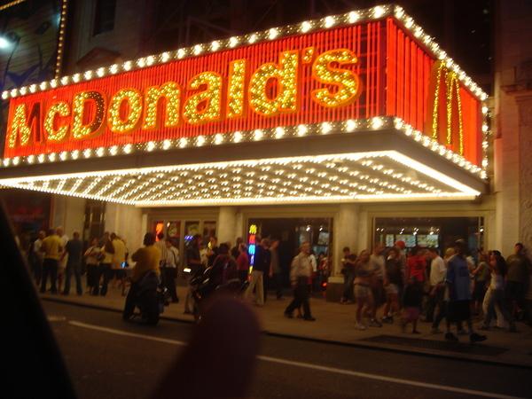 百老匯風的麥當勞