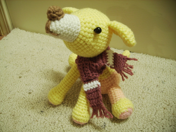 小黃狗圍圍巾