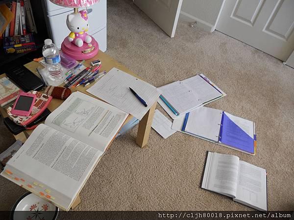I'm studying hard