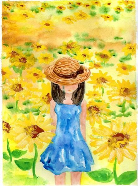 向日葵與女孩