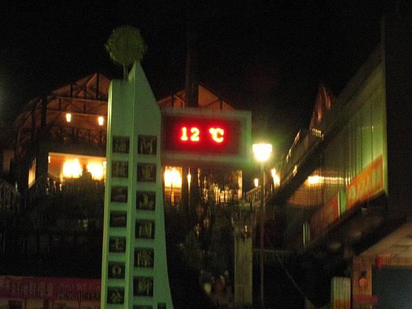 12度的氣溫