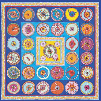 72年來,愛馬仕不斷堅持精緻的絲巾印刷和製作過程。