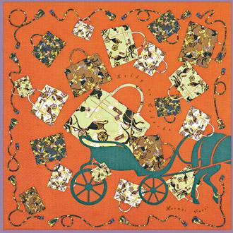 愛馬仕絲巾堪稱品牌經典,從圖樣設計到製作,一方絲巾至少需要七至八個月才能完成。