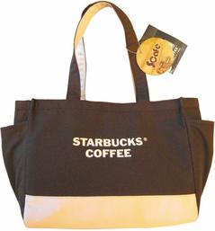 興采公司利用咖啡渣幫星巴克做的環保提袋。