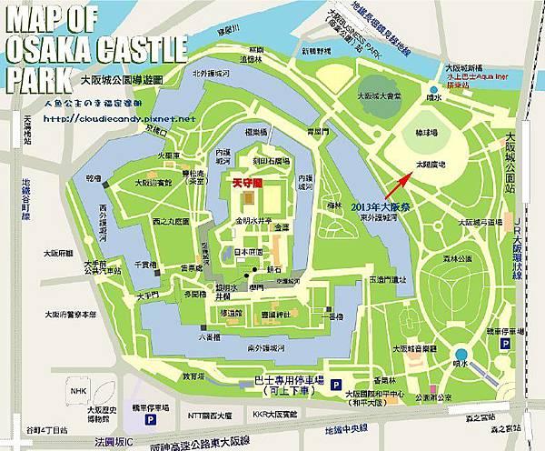 大阪城公園地圖