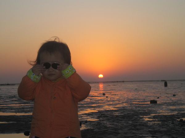 看夕陽, 記得要帶大陽眼鏡喔