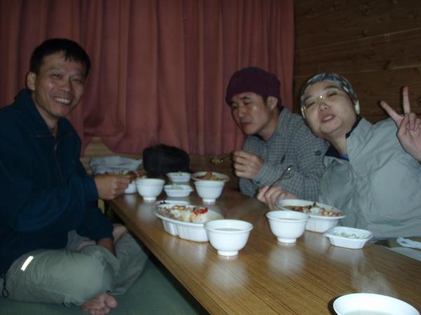 富士山腰的晚餐