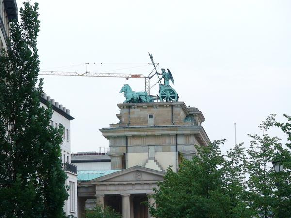 布蘭登堡門上的雕像